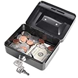 Jssmst Locking Small Steel Cash Box Without Money