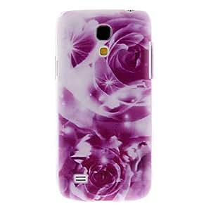 Purple Flower Pattern Hard Case for Samsung Galaxy S4 mini I9190