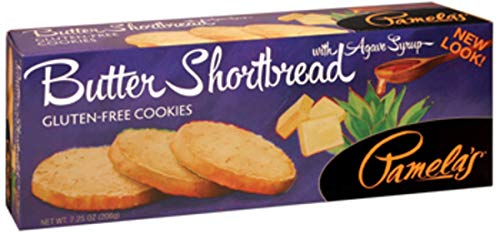 Pamela's Products - Gourmet All Natural Cookies Gluten Free Butter Shortbread - 7.25 oz (pack of 2)