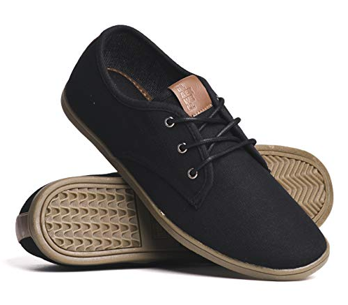 d377fa8e61feb BLACKWELL Mens Isaac Canvas Casual Lace-Up Shoes Black