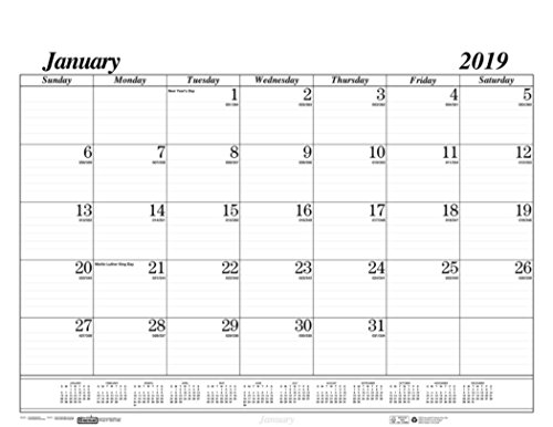 House of Doolittle 2019 Monthly Desk Pad Calendar Refill, Economy, HOD124 Refill, 22 x 17 Inches, January - December (HOD126-19) Weekly Desk Calendar Refill