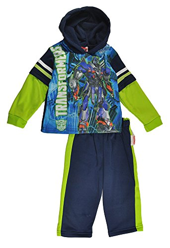 Transformers Little Boys Optimus Prime Pull Over Hoodie 2pc Sweat Suit (2T) -