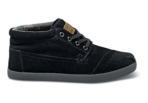 Mens Toms Botas Black Suede Boots Size 13 WwdSizbG