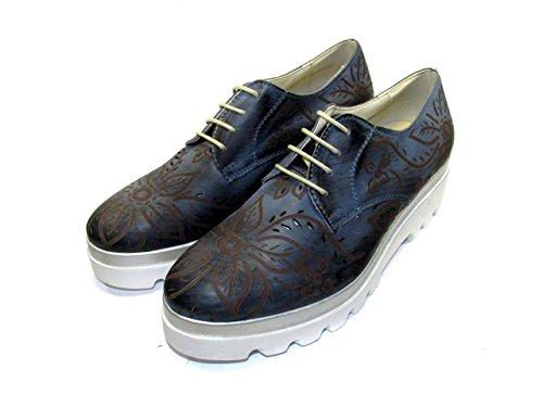 ... OSVALDO PERICOLI - Zapatos de cordones de Piel para mujer turquesa