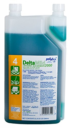 Delta Mild Green Seal Certified Neutral Floor Cleaner: 6/2L Bottle of Super Concentrated Cleaner by Genesan