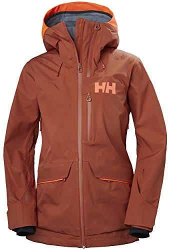 Helly Hansen Women's Aurora 2.0 Waterproof Shell Ski Jacket, Red Brick, Small