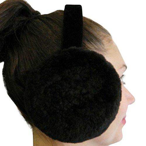 Black Sheared Beaver Ear Muffs