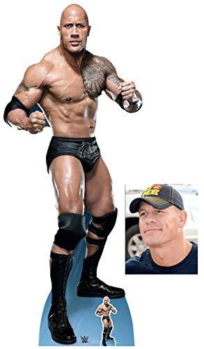 The Rock Dwayne Johnson Fight Stance WWE Lifesize and Mini Cardboard Cutout Fan Pack 194cm x 75cm, Includes 8x10 Star Photo (Wwe Rock Best Fight)