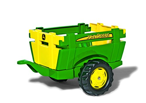 rolly toys John Deere Farm Trailer with Detachable Sides for Pedal Tractor, Youth Ages 3+