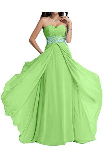 ivyd ressing Mujer Exquisite Corazón de recorte a de línea piedras fijo vestido largo Party Prom vestido para vestido de noche Verde