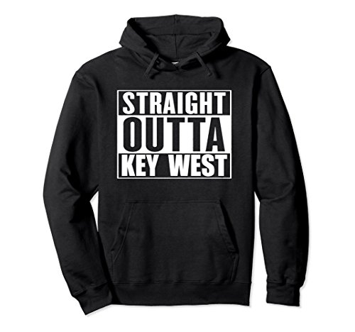 Unisex STRAIGHT OUTTA KEY WEST FLORIDA , FUNNY HOODIE Small - Stores Florida West Key