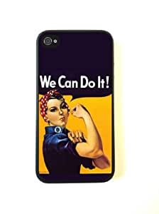 iPhone 4 Case - Silicone Case Protective iPhone 4/4s Case- Rosie The Riveter