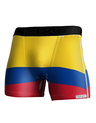 TooLoud Colombia Flag AOP Boxer Brief Dual Sided Medium All Over (Print Soccer Boxers)