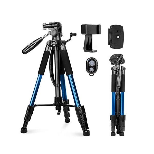 Kamerastativ Sunfoto 160cm Leichtes Stativ Aus Aluminium Mit 2 Schnellwechselplatte Tragetasche Handyhalterung F R
