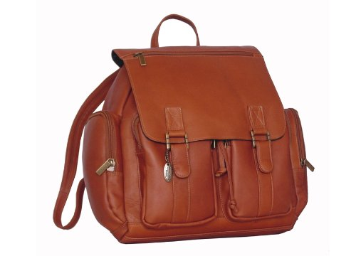 David King & Co. Laptop Backpack with 2 Front Pockets, Tan, One Size