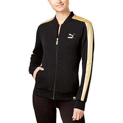 Crew Track Jacket (PUMA Womens Stripe Crew Track Jacket Black XS)