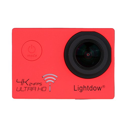 Lightdow LD-4K 12.40M Real 4K High Speed Wifi Sports Action Camera Bundle with Upgrade DSP: Novatek NT96660 Chip, Sony IMX117CQT COMS Sensor, 170° Wide Angle Lens and Bonus Battery (Red) Action Cameras ZLY Technology