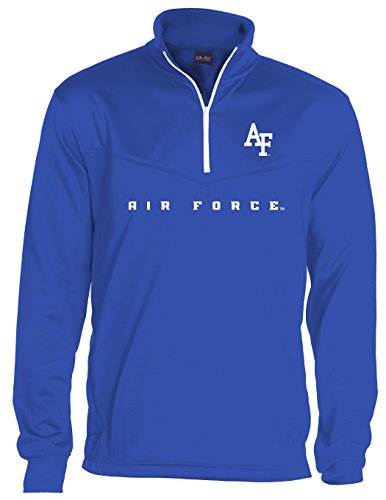 Air Force Hoodie Sweatshirt (NCAA Air Force Falcons Quarter Zip Poly Fleece, Large, Royal Blue)