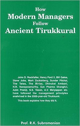Buy How Modern Managers Follow Ancient Tirukkural Book