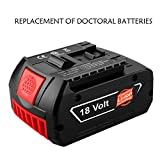 One76 Robot Vacuum Cleaner Replacement Parts, Leoie Li-ion Battery Replacement compatible with Bosch Drill 18V BAT609 Spare Power Tool 3.0