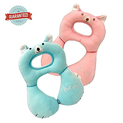 Baby bear travel neck cushion - Baby car seat & stroller headrest pillow, head and neck support 1pc