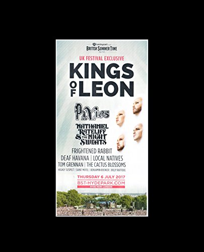 Kings Of Leon Pixies Nathaniel Rateliff & the Night Sweats - British Summer Time 6th July 2017 Mini Poster
