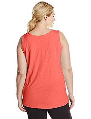 Just My Size Women's X-Temp Shirred Tank Top