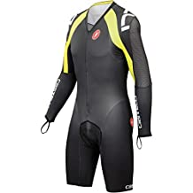 Castelli Body Paint 3.0 Speed Suit - Long-Sleeve - Men's Black/White/Yellow Fluo, XL by Castelli