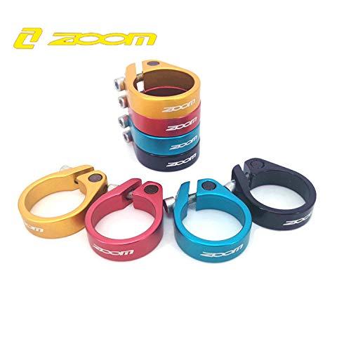 Zoom 31.8 Color Rojo Abrazaderas para tija de sill/ín de Bicicleta de Carretera 34,9 mm, 35 mm