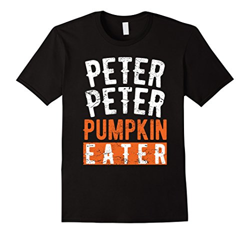 Couples Costumes For Halloween (Mens Peter Peter Eater Funny Halloween Couples Costume T-shirt Large Black)