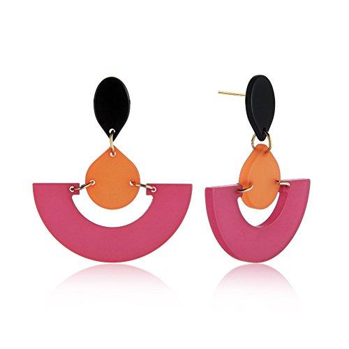 Paymenow Clearance Stud Earrings Set Hook Dangle Fashion Geometric Shaped Earring Jewelry For Women Girls (O)