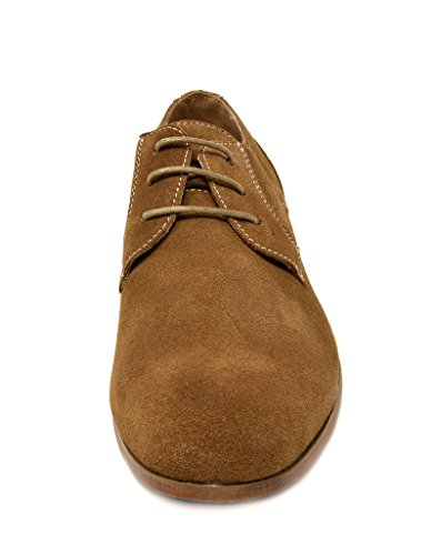 Bruno Marc New York Bruno Marc Mens Chaussures En Cuir De Daim Constiano-1 Tan