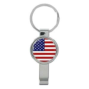 Amazon.com: Bandera de Estados Unidos Cap removedor llavero ...