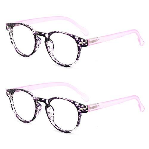 OCCI CHIARI Lightweight Designer Acetate frame Stylish Reading Glasses For Women (5006-Purple2, 2.0)