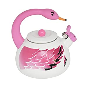 Flamingo Metal Teapot