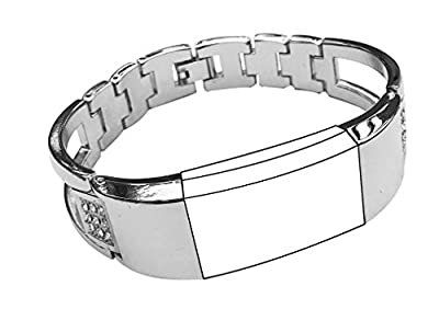 Replacement Bands for Fitbit Charge 2, Exclusive Diamond Wristband Metal Bracelet Bands for Fitbit Charge 2 /Fitbit Charge 2 Bands,Watch Replacement Accessories Bands