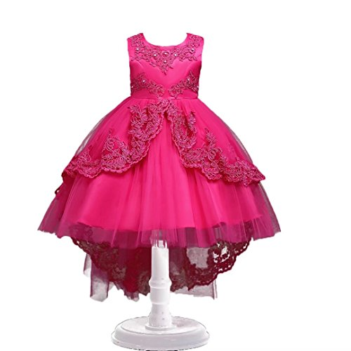 (ADHS Kids Flower Firl Floral Prom Wedding Ball Gown Formal Occasion)