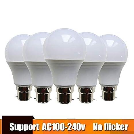 5Pcs Led Bulb Lamp B22 Lampada Lampe Bombilla Led Namna Lampu Kuningan 3W 5W 7W 9W ...