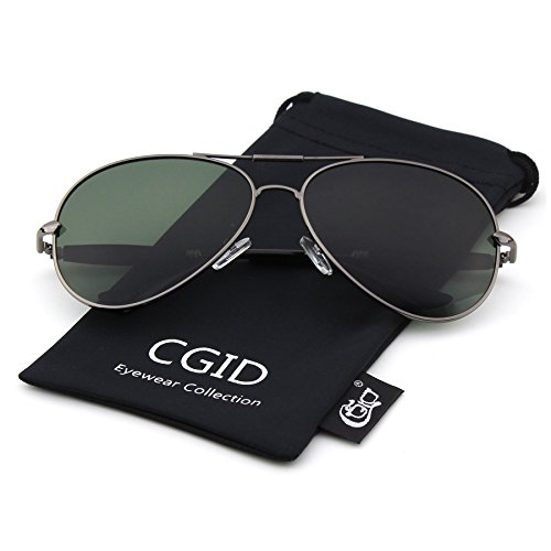 CGID CM801 Premium Full Mirrored Aviator Sunglasses w/ Flash Mirror Lens Uv400,Brown - Between Difference Sunglasses Polarized Non And Polarized