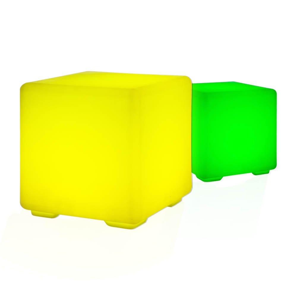 Design Hocker / Sitzwürfel / Beistelltisch Mit LED RGB Beleuchtung Lounge  Möbel Cube / Tisch Mit Fernbedienung, Netz  Und Akkubetrieb: Amazon.de:  Küche U0026 ...