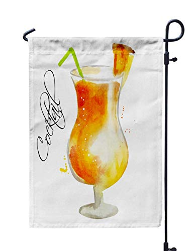 Shorping Yard Garden Flag, 12x18Inch for Holiday and Seasonal Double-Sided Printing Yards Flags Watercolor Vector Illustration Alcoholic Cocktail Illustration for cooki]()
