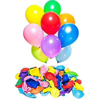 KISEER Assorted Rainbow Color Party Balloons Bulk 100 Pcs 12 Inch Strong Latex Ballons for Birthday Party Wedding Arch Decoration or Kids Toy
