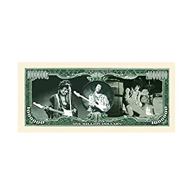 American Art Classics Jimi Hendrix Million Dollar Bill in Currency Protector - Best Gift for Fans of Jimi Hendrix and The Experience: Toys & Games