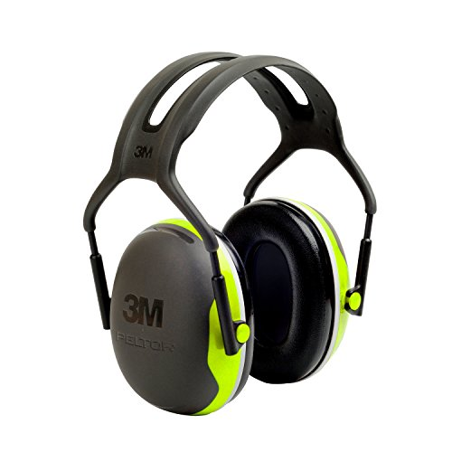 3M Peltor X-Series Over-the-Head Earmuffs, NRR 27 dB, One Size Fits Most, Black/Chartreuse X4A (Pack of 1) from 3M Personal Protective Equipment