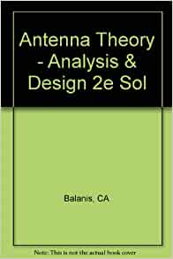 antenna theory analysis and design book pdf