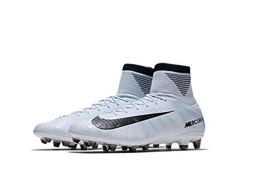 Nike Mercurial Veloce III Dynamic Fit CR7 AG-PRO Suelo duro Adulto 41 bota de fútbol - Botas de fútbol (Suelo duro, Adulto, Masculino, Suela con tacos, Negro, Azul, Blanco, Monótono)