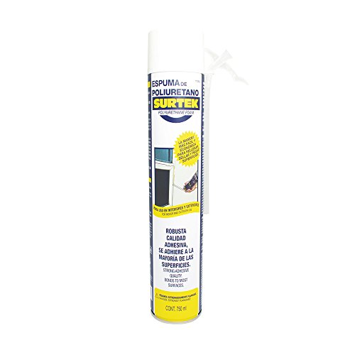 Surtek 113502 Espuma de Poliuretano Uso Industrial, 750 ml