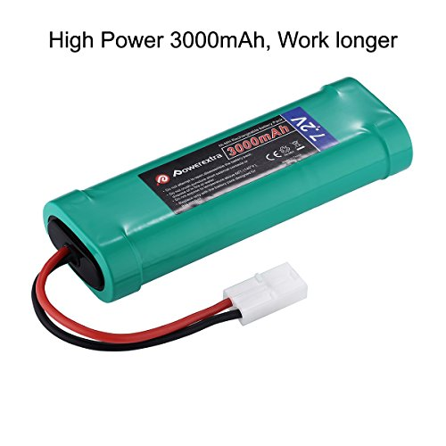 Powerextra 2 Pack 7.2V 3000mAh High Capacity 6-Cell NiMH Battery Packs with Standard Tamiya Connecto - http://coolthings.us