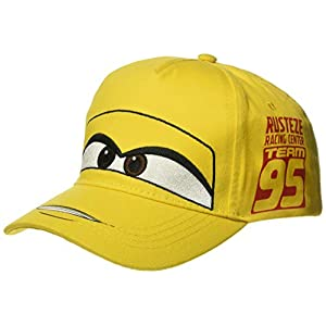 Disney Boys Cars Cruz Big Face Baseball Cap, Kid's, Yellow, One Size