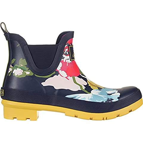 Joules Wellibob French Navy Posy Womens Rain Boots Size 8M - Wellies